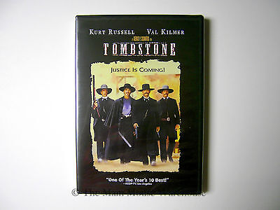 Tombstone DVD Kurt Russell as U.S. Marshall Wyatt Earp Val Kilmer Doc Holliday