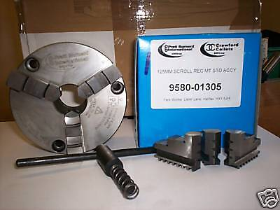 PRATT BURNERD 200mm 3 JAW CHUCK FRONT MOUNTING FITS HARRISON & COLCHESTER LATHES