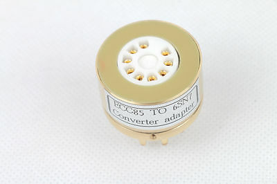 1pc Gold plated 6N1 ECC85 instead 6SN7GT B65 6H8C CV1988 tube converter adapter