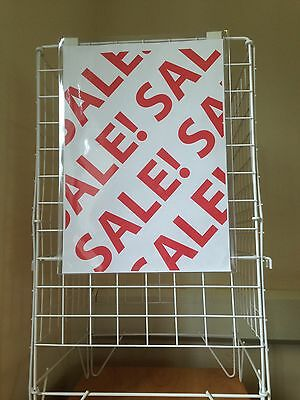 Pack of 2 x A3 Size Clip On Sign Holder for Dump Bins or Baskets.