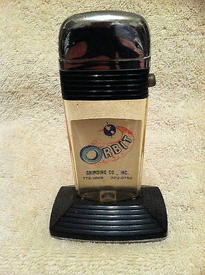 Vintage Scripto Vu-Lighter ORBIT Grinding Co. Advertising Great Atomic Graphics