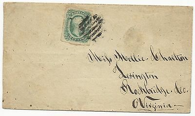 CSA Scott #12c AD on Cover Army of Northern Virginia Field Grid Cancel VF