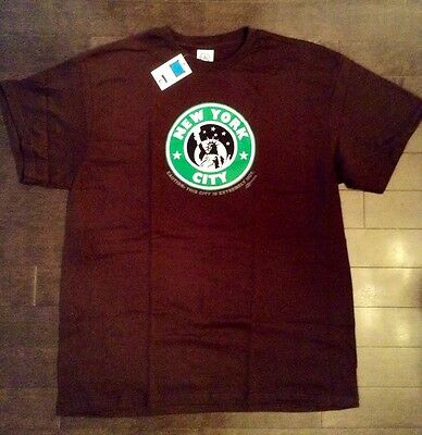 NEW YORK CITY, NY T SHIRT - BROWN SIZE LARGE - Starbucks (L-R-G ORISUE CROOKS