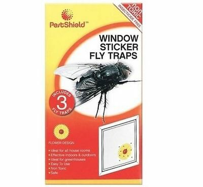 Effective Plain Window Fly Trap Stickers  Paper Insect Catcher Bug Wasp Sticky