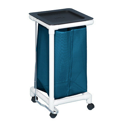 Single Linen Hamper W/Foot Pedal Mesh Teal                     1 EA