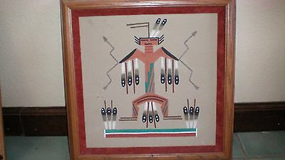 """ Big Thunder"" Native American Orginial Signed Sand Painting"
