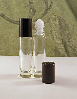 Lot(2) empty Glass Container Bottles Roll-on Roller Ball top ritual wicca pagan