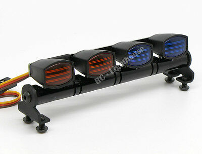 RC LED Light bar with RED/Blue Police Lenses - 5 flashing modes - FZ RB Rect