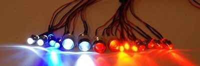 RC Lights  Custom Set of 15 LED's with plugs.  Bright