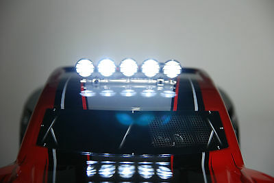 RC LIght Bar for Traxxas Cars or trucks 1/8 1/10 1/16 Chrome w/ on/off Switch