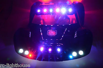 For Traxxas Slash 4x4 2WD RC10 Police LED Lights Cop Black #36 BODY NOT INCLUDED