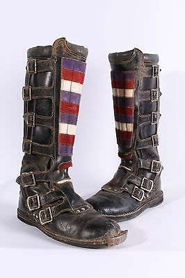 VINTAGE 70S VIKING LEATHER MOTOCROSS MOTORCYCLE MX BOOTS MENS 9 D