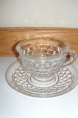 6 Vintage American Fostoria Cups and Saucers Sets Cup / Saucer Sets *MINT*