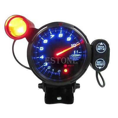 "12V Tachometer Gauge Kit LED 3.5"" Auto Meter with Shift Light+Stepping Motor RPM"