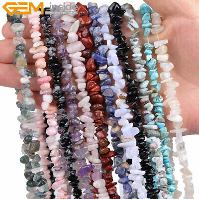 "Freeform Natural Gemstone Chips Beads For Jewelry Making 34""/15"" Bulk in Lots"