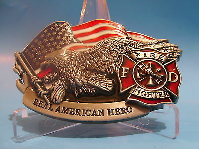 Beautiful Fire fighter belt buckle Rescue Free Shipping in USA