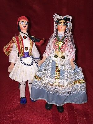 Vintage Pair Of Handmade Spanish Dolls - Estimated Circa 50's-1960s- Very Rare