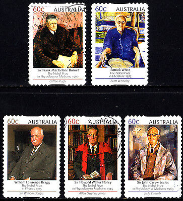 Australia 2012 Australian Nobel Prize Winners Complete Set of Stamps P Used S/A