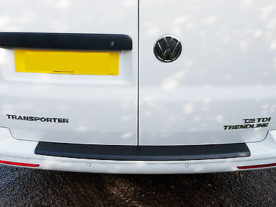 Rear Black ABS Sill Bumper Protector Guard Cover for VW Transporter T5 (03-15)