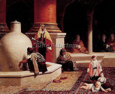 In The Harem Artist Painting Reproduction Handmade Oil Canvas Repro Art Deco