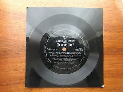 """7"""" 33 FLEXI (2-sided) NURSING TIMES NT002 """"Year Of Communication-Tune In!"""" UNCUT"""