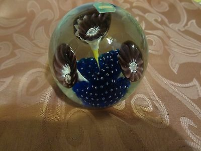 MURANO GLASS PAPERWEIGHT~ LABEL~VINTAGE!