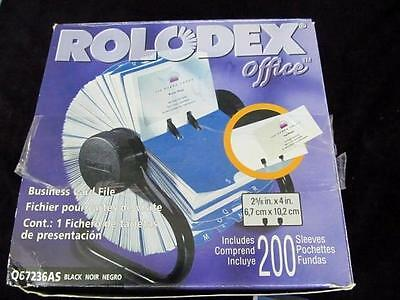 Rolodex business card file open nib rotary 200 sleeves office desk rolodex business card file open nib rotary 200 sleeves office desk address fast reheart Image collections