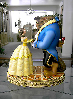 "Large 14"" Beauty and the Beast Ballroom Scene Sculpture w/ Base Removeable Rose"