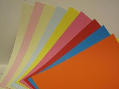 Heavyweight Coloured Paper Card  2-Sided A4 180gsm x 15 for Cardmaking & Crafts
