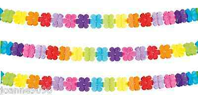 4M Flower Power 60S 70S Peace Party Hawaiian Rainbow Decoration Bunting Garland