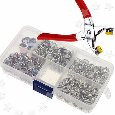 Fastener Snap Pliers Craft Tool & 110 Sets Press Studs Sewing Craft Snap