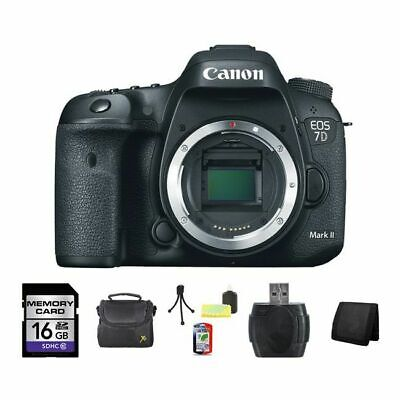 Canon EOS 7D Mark II DSLR Camera 16GB Package