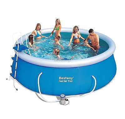 BestWay Fast Set Swimming Pool Round Inflatable Above Ground 15ft x 48inch 57289