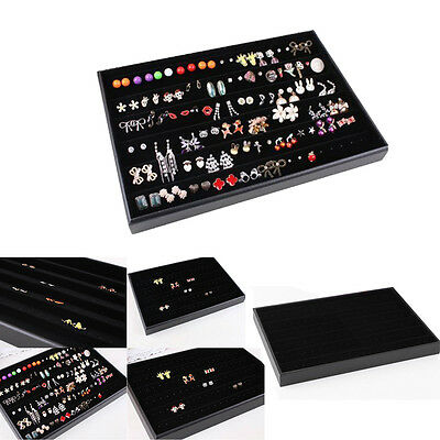 120 Hole Earring Jewelry Necklace Organizer Display Tray Case Box Holder Storage