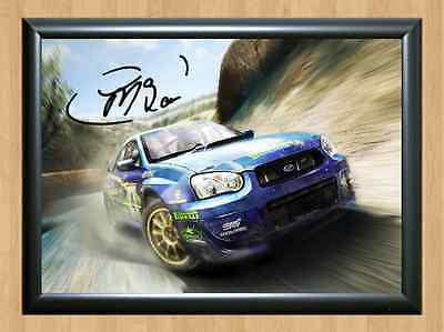 Colin McRae Rally Driving Car Race Signed Autograph A4 Poster Photo Print Collin