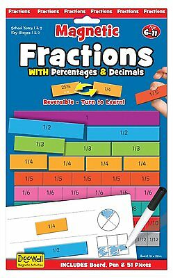 Fiesta Crafts Magnetic Fractions with Decimals and Percentages