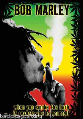 "BOB MARLEY Herb Reveals You 29""X43"" Cloth Poster Flag Fabric Wall Banner-New!"