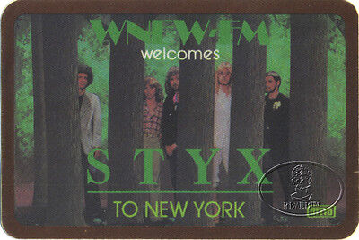 Styx 1982 Paradise Theater Radio Promotional Backstage Pass Wnew