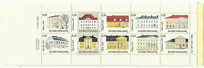 FINLAND. 1982. Manor Houses Booklet. Pane  SG: 1024a.