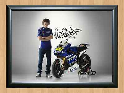 Valentino Rossi Moto GP 2013 VR46 46 Signed Autographed A4 Print Photo Poster F1