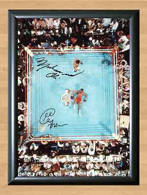 Muhammad Ali vs George Foreman Autographed Signed A4 Print Poster Photo Boxing