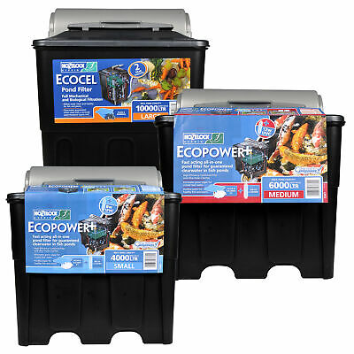 Hozelock Ecopower Pond Filter Uv Uvc Water Filtration Gravity Koi Fish Garden