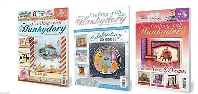 Crafting with Hunkydory Magazine Issues 14,16,17,19,20,22,23,24,25,26 & FREE KIT