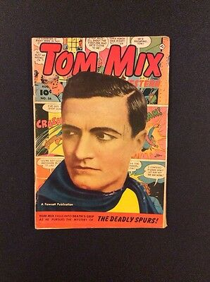 TOM MIX WESTERN #56 Golden Age Comic Book Fawcett 1952 Photo Cover Vintage