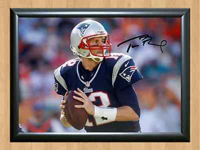 Tom Brady New England Patriots NFL Rugby AFL Signed Autographed Photo Print A4