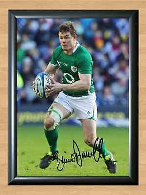 Brian O'Driscoll Ireland World Cup Six Nation Autographed Signed A4 Photo Poster