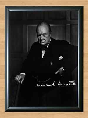 Winston Churchill Signed Autographed A4 Print Poster Photo Autograph Picture WW2
