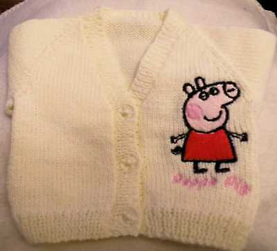 Peppa Pig Knitted baby cardigan  (New)
