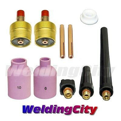 "TIG Welding Large Gas Lens Accessory Kit 3/32"" for Torch 9/20/25 T44 