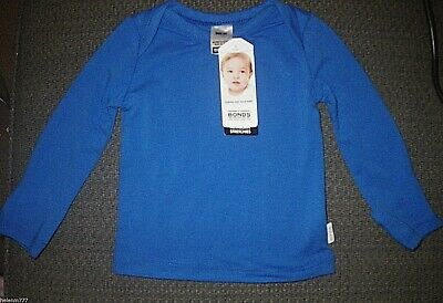 Bonds Baby Stretchies 0000 000 Blue 0000 Grey Marle Soft Long Sleeve Tee
